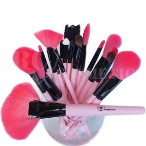 24 pcs pink makeup brush set 1