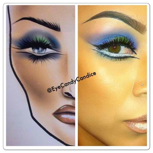 Beautiful look for RC Cosmetics