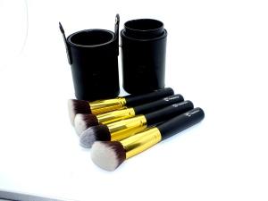 gold kabuki brush set from Royal Care Cosmetics