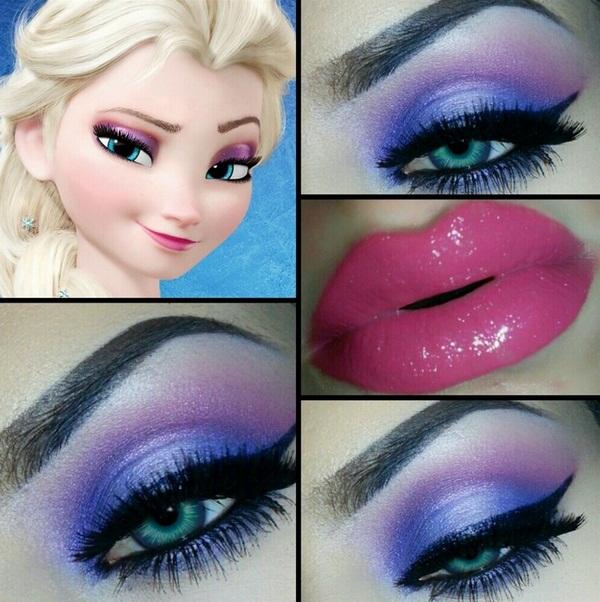 Halloween-Makeup-hairstyles-Disney-Princess-Elsa-makeup